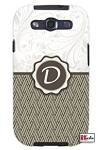 Monogram Initial Letter D Unique Quality Hard Snap On Case for Samsung Galaxy S4 I9500 - White Case