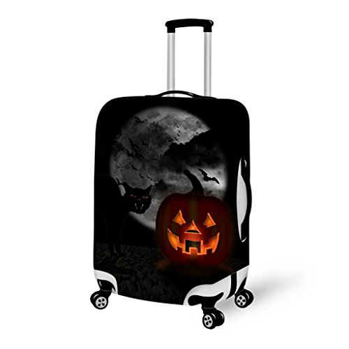 Creative Trolley Case Protective Case Halloween Elasticity Trunk Protective Cover , L , v