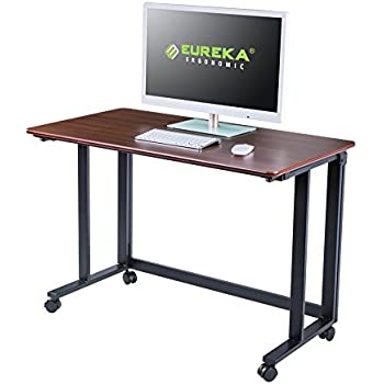Amazon Com Mobile Adjustable Height Stand Up Workstation