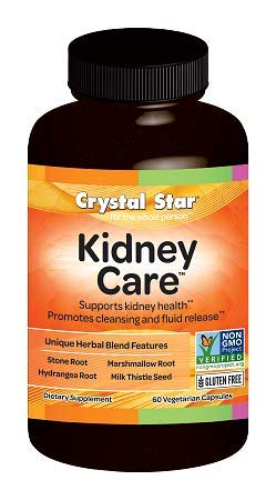 Crystal Star - Kidney Care - Helps Prevent Kidney Stones from Forming- 60 Vegetarian Capsules - previously named Stone Defense (Best Way To Prevent Kidney Stones)