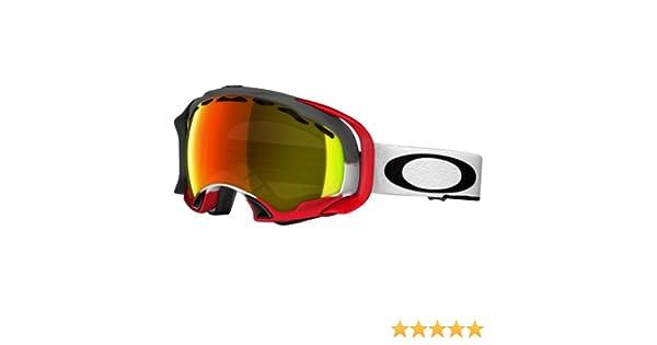7fd9a771ee92 Amazon.com   Oakley Splice Simon Dumont Signature Series Snow Goggle with  Fire Lens   Ski Goggles   Sports   Outdoors