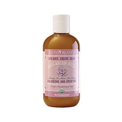 Alteya Organics Liquid Soap - Bulgarian Rose - USDA Organic, With Organic Bulgarian Rose Oil (Rose Otto)
