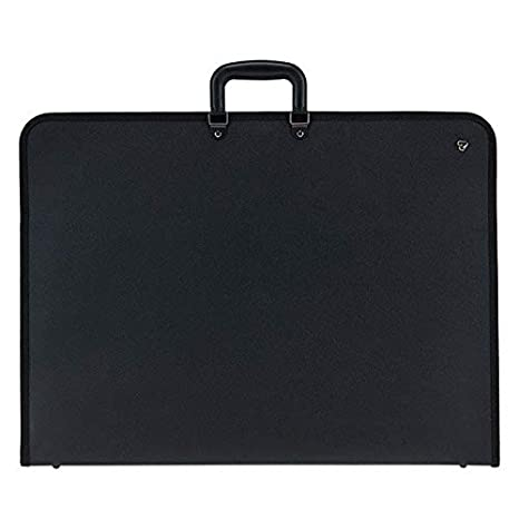 A2 28x20x1.5 Inch Graphic Designers Sketching Projects Art Portfolio Case Artist Carrying Case Artist Portfolios Case with Shoulder Strap Black Waterproof for Students Professional Artists