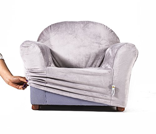 keet roundy kids chair cover only, 9 colors available (grey)