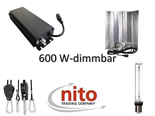 Generic Grow Light Set 600 Watt  dimmbares Vorschaltgerät, Reflektor und NDL