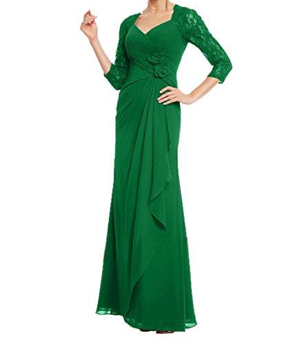 Damen Brautmutterkleider Damen Langarm Spitze Festlichkleider Kleider Abendkleider Partykleider Charmant Grün Mit twaYqPfw