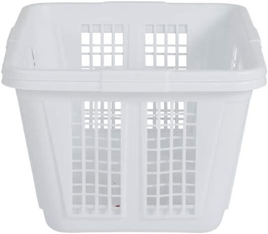 bdrsjdsb Sucker Hollow Plastic Laundry Basket Toy Vestiti sporchi Contenitore Home Organizer Space Saver Grigio Chiaro