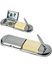 Schreib-Garnitur Notizblock mit Kugelschreiber und Foto versilbert Silber plated edel verarbeitet. Schreibtischzubehör