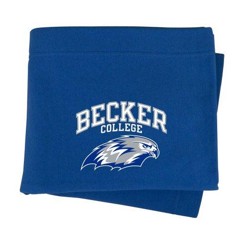 CollegeFanGear Becker Royal Sweatshirt Blanket 'Primary Mark'