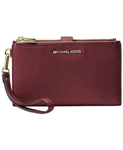 MICHAEL Michael Kors Adele Leather Smartphone Wristlet (Maroon)