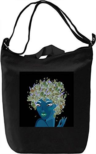 Girl Portrait Borsa Giornaliera Canvas Canvas Day Bag  100% Premium Cotton Canvas  DTG Printing 