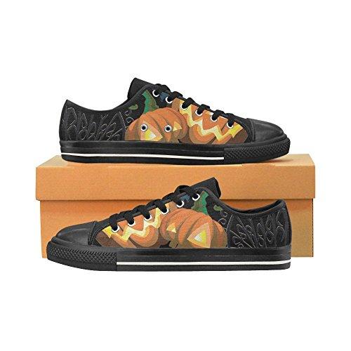 D-Story Custom Happy Halloween Pumpkin Womens Classic Canvas Shoes Fashion Sneaker Multicoloured7