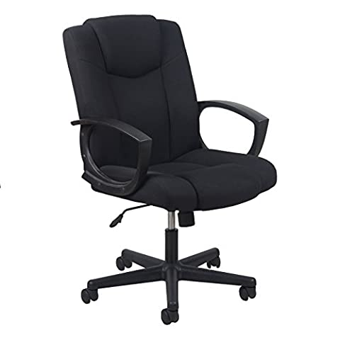 Essentials Swivel Upholstered Task Chair with Arms - Ergonomic Computer/Office Chair (ESS-3080) - Montgomery Swivel