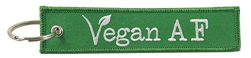 Vegan AF, Embroidered Key Chain