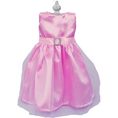 Doll Dress for 18 Inch Dolls, Pink Sugar Plum Dress with Buckle by Chloe'