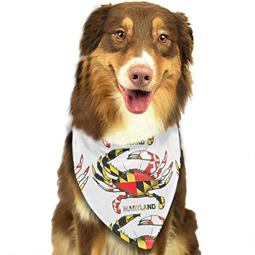 Maryland Crab Coat Adjustable Dog Bandana Washable Dog Scarf Pet Triangle Bandanas Fashion Bib for Small to Large Dogs -