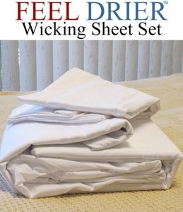 Feel Drier® Moisture Wicking Sheet Set for Night Sweats