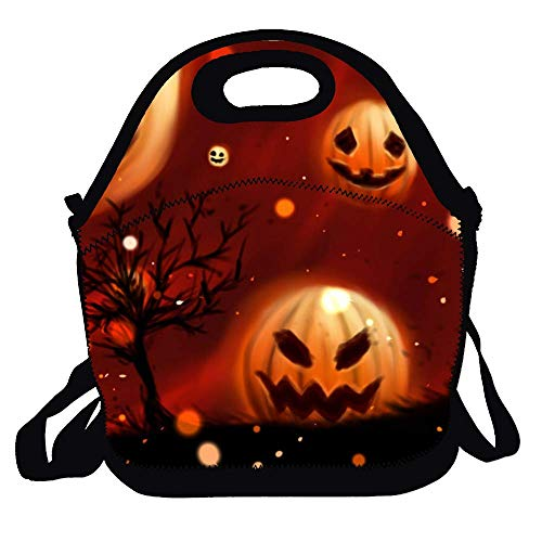 Amuseds Pumpkin Halloween Wallpapers Holiday Lunch Bag Lunch Tote Lunch Box Handbag For Kids And Adults