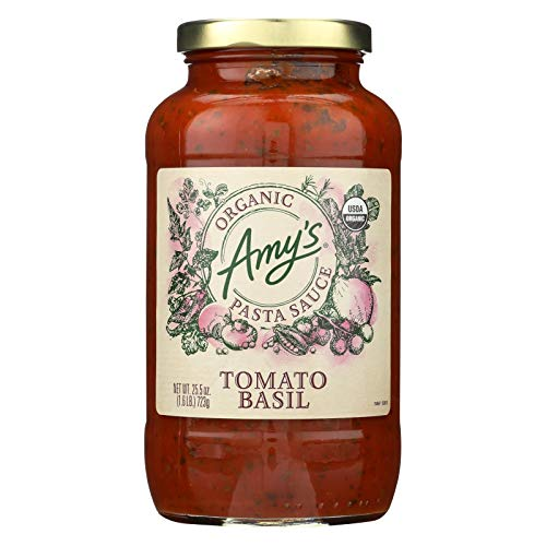 AMY'S, Psta Sce, Og2, Tomato Basil, Pack of 6, Size 25.5 OZ, (Gluten Free Vegan Yeast Free 95%+ Organic)