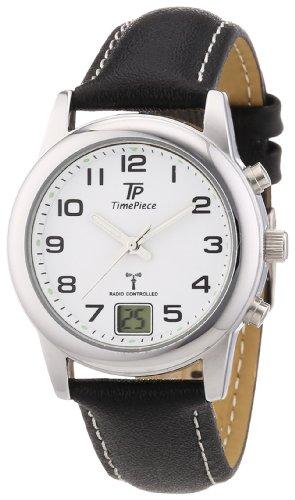 Time Piece Damen-Armbanduhr XS Funk Lederband Analog Quarz Leder TPLA-10238-12L