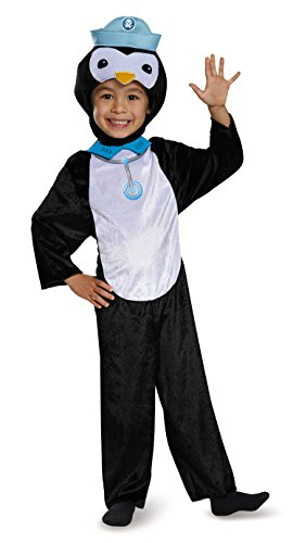 Disguise Peso Penguin Classic Octonauts Silvergate Media Costume, Medium/3T-4T