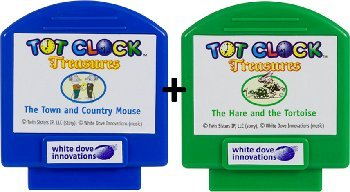 Tot Clock Treasure: Hare & Tortoise + Town Mouse & Country Mouse (compatible with New & Improved Tot Clock only) by My Tot Clock