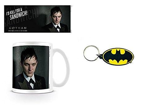 Set: Gotham, Penguin Taza Foto (9x8 cm) Y 1 Batman, Llavero ...