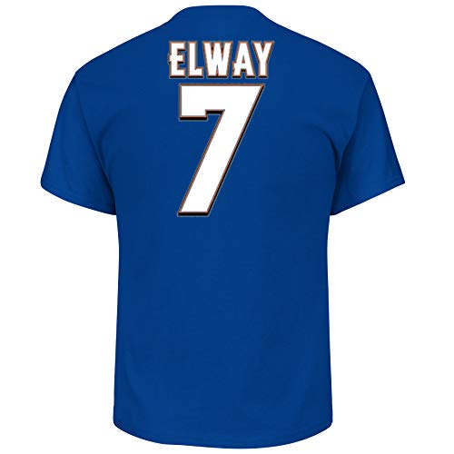John Elway Denver Broncos Hall of Fame Big & Tall Name and Number T-Shirt XL ()