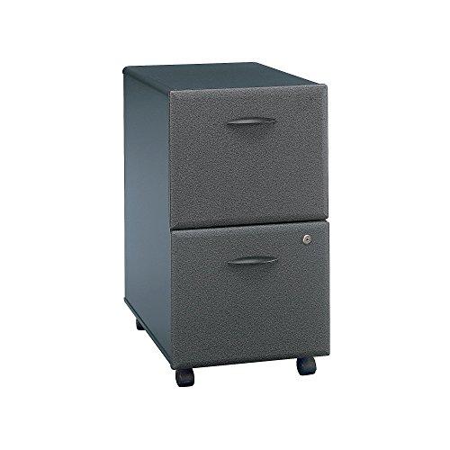 Bush Business Furniture WC84852PSU Series A 2 Drawer Mobile File Cabinet, Slate