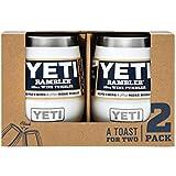 YETI Rambler 10 oz Stainless Steel Vacuum Insulated Wine Tumbler, 2 Pack, White