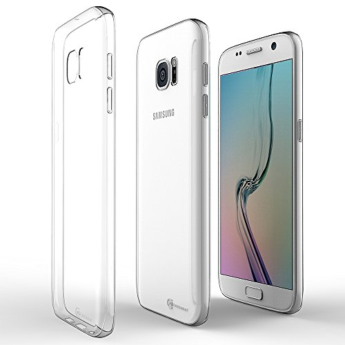Samsung Galaxy S7 Ultra Slim Clear Case, Case Army® Scratch-Resistant, World's Thinnest Ultra Flexible Case, Shock-Dispersion Technology, Silicone Cover with TPU Bumper (Limited Lifetime Warranty)