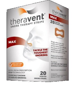 Theravent Snore Therapy Strips, Max, 20 Count Each (Pack of 11)