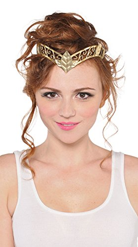 Amscan Gracious God & Goddess Tiara Party Accessory, Gold, Plastic (Goddess Tiara)