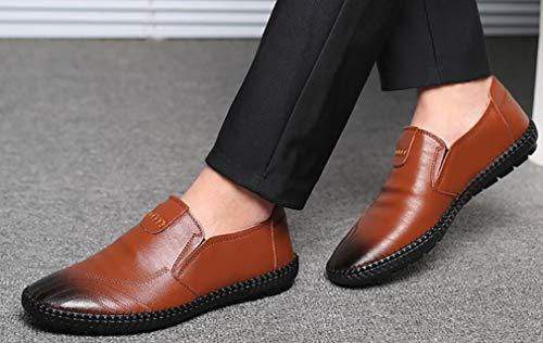 De Shoes Para Plano Hombre 37 Primavera Shoes Zapatos driving Slip Driving Cuero daily Casual Yan On Estilo Do Walking Comfort 47 Otoño Mocasines Y 05Xxwqd