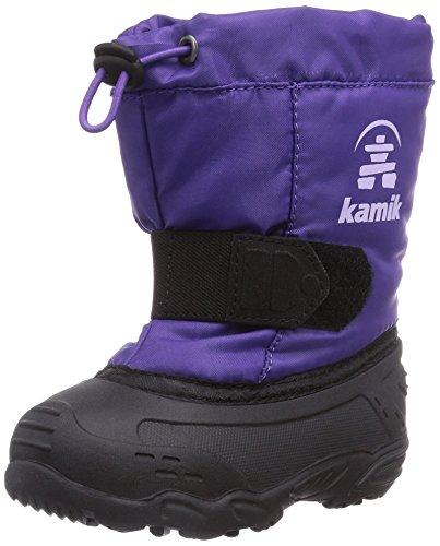 Kamik TICKLEEU Unisex-Kinder Warm gefütterte Schneestiefel Violett (PUR-PURPLE)