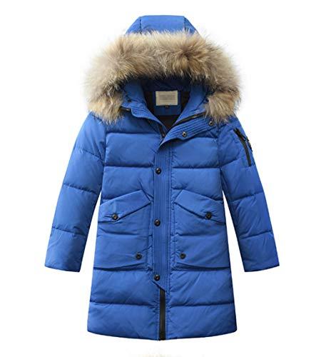 Hooded Girls Jacket Puffer (LISUEYNE Boys Kids Winter Hooded Down Coat Puffer Jacket for Big Girls Mid-Long)