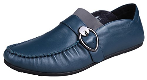 Abby 9918 Mens Fritids Loafers Munk Rem Mode Bussiness Mötes Sneakers Blå