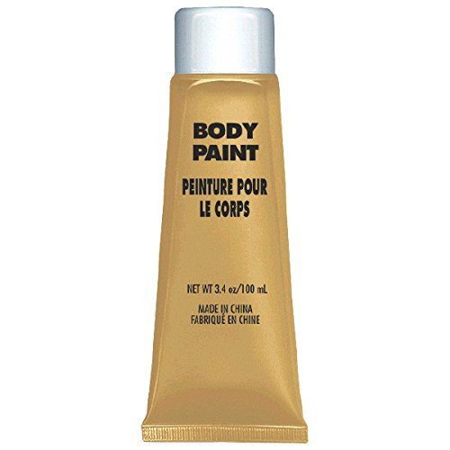 [Party Perfect Team Spirit Body Paint Accessory, Gold, Non-Toxic, 3.4 Ounces] (Gold Body Paint Costume)