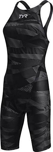 TYR APFC6A Women's Avictor Prelude Closed Back Swimsuit, Black/Black - 32 by TYR