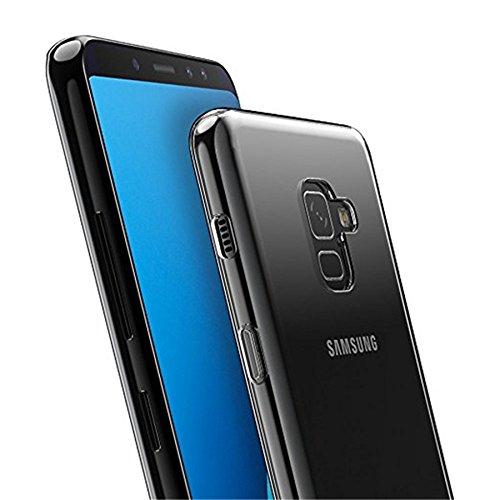 more photos e8ea3 3121e FOSO Clear Silicon Protective Back Cover Case For Samsung Galaxy A8 Plus  2018 (Transparent TPU)