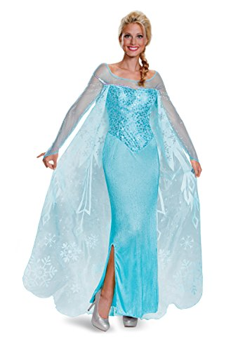 [83167 ((Ladies 4-6)) Adult Elsa Prestige Dress Adult Frozen Costume] (Frozen Costumes Women)