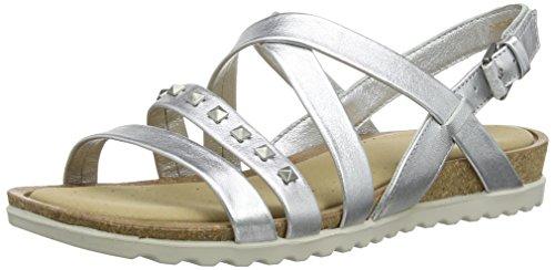 de Argent mujer Dagmar para vestir Light piel Ecco Silver de Sandalias w6UqFE0x8