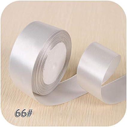 6ミリメートル1センチ1.5センチ2センチ2.5センチ4センチ5センチサテンリボンDIY人工シルクバラ工芸用品縫製アクセサリースクラップブッキング素材-NO 66 Silver-5cm