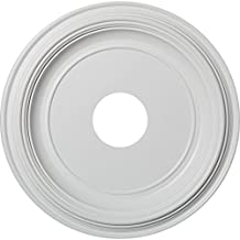 "Ekena Millwork CMP16TR 16""OD x 3 1/2""ID x 1 3/8""P Traditional Ceiling Medallion (Fits Canopies up to 3 1/2""), White"