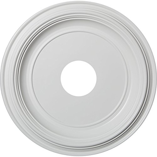 Ekena Millwork CMP16TR Traditional Thermoformed PVC Ceiling Medallion, 16'OD x 3 1/2'ID x 1 3/8'P (Fits Canopies up to 9 1/2'), White