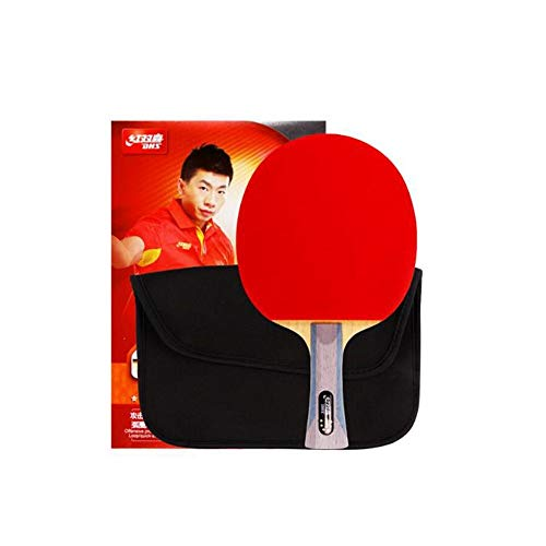 HUIJUNWENTI 6 Stars, Double Sided, Long Anti-Adhesive Table Tennis, Pen-Hold, Horizontal Shot, Offensive and Defensive Combined with Table Tennis Bat, Single Shot (Edition : Pen-Hold)