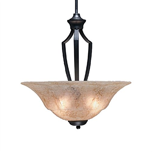 Toltec Lighting 567-MB-53818 Zilo Pendant with 3 Bulbs with 20