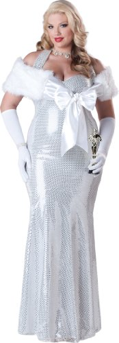 InCharacter Costumes Women's Plus Size Seductive Starlet Costume, Silver, XX-Large