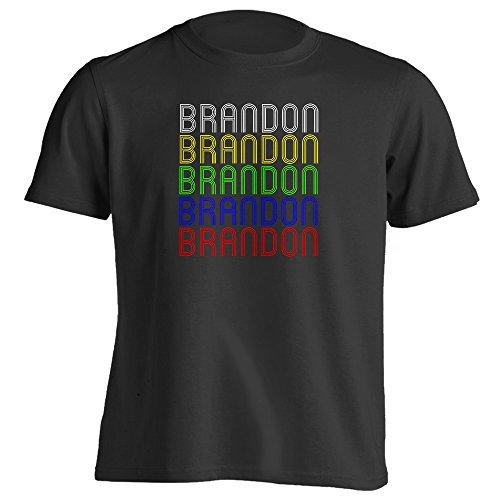 Retro Hometown - Brandon, MN 56315 - Black - Large - Vintage - Unisex - - Brandon Town