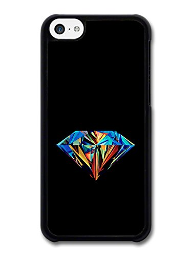 New Cool Colourful Diamond on Black Background Hipster Style Fashion coque pour iPhone 5C